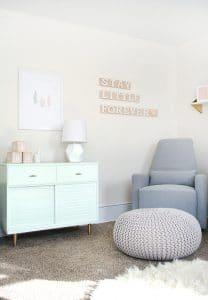 La chambre relaxante de la petite Bre